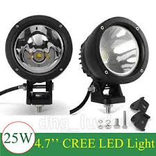 small round led lights pair cree 5inch 25w round led work light spot fog light offroad 4x4