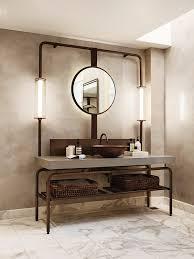 Bathroom Open Shelving 32 Trendy And Chic Industrial Bathroom Vanity Ideas Digsdigs