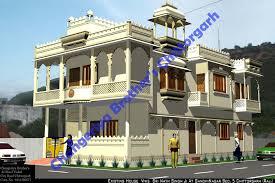 Mr Sri Nath Singh Ji s Royal house in Rajasthani Mewari Stayle Exterior Design in 3D
