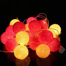 best price on christmas lights 2016 best price 20 fabric cotton balls string fairy led lights xmas