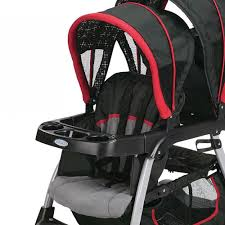 graco click connect double seated stroller and car seat travel