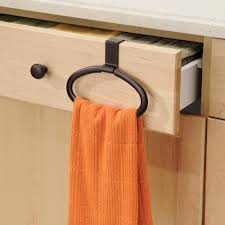 amazon com interdesign axis over cabinet swing kitchen dish towel
