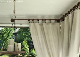 Outdoor Sheer Curtains For Patio Patio Curtain Rod Hbwonong Com