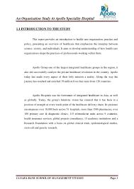 Hospital Inauguration Invitation Card Matter Apollo Internship Report Final
