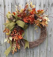 fall wreaths fall wreath fall berry wreath fall leaf wreath fall burlap in