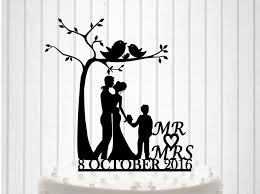 knit family wedding cake topper romantic tree wedding cake