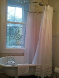 Extra Long Shower Curtains For Walk In Showers Custom Fabric Shower Curtain Lyon Ecru Taupe White 54x78 Stall