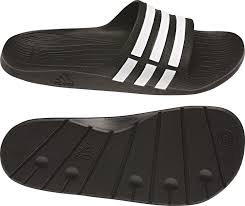 adidas duramo slide black white mens sport slippers slip on shoes