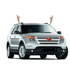 reindeer antlers for car clip on reindeer antler car set