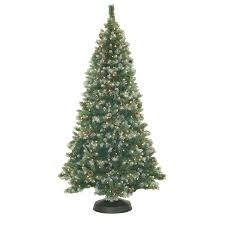 frosted christmas tree pre lit 7 frosted pine artificial christmas tree 500 clear