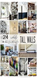 decorating tall walls remodelaholic 24 ideas on how to decorate tall walls