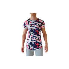 t shirt originale tee shirt coloré imprimé graphique avec ouverture zip originale devant
