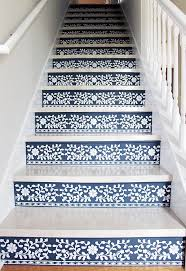 Garage Stairs Design Best 25 Stenciled Stairs Ideas On Pinterest Painted Steps