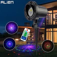 laser light christmas remote outdoor laser motion static 12 patterns rgb garden