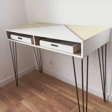 bureau bois recyclé planche pour bureau plateau bois recycler du de palette en