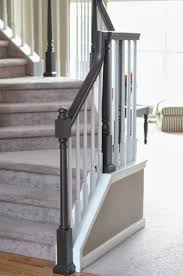 How To Refinish A Wood Banister Best 25 Painted Banister Ideas On Pinterest Banisters Banister
