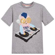 girls u0027piro chan u0027 grey t shirt childrensalon