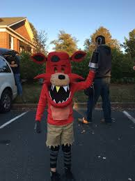foxy costume my sons foxy costume from five nights at freddy s made out of