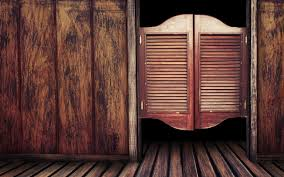 wooden door to old western bar photo and desktop wallpaper