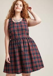 sleeveless dress sleeveless dress with scoop neck in plaid modcloth