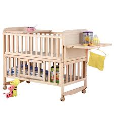 8 in1 baby bed with shelf can extend 148cm baby crib height can