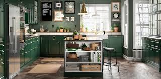 ikea kitchen cabinet back panel green kitchen cabinets bodbyn series ikea