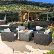 Firepit Patio Table by Fire Pit Table Sets You U0027ll Love Wayfair