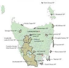 map of tasmania australia parks wildlife service national parks