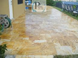 Travertine Patio Pavers by Travertine And Brick Pavers A Great Choice For The Driveway