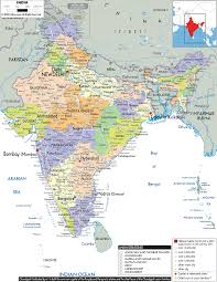 India Physical Map by Map Of India