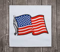 Us Flag 1860 Usa Waving Flag 2 Embroidery Design