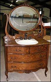 Antique Bathroom Vanity by Photo Of Front View Antique Bathroom Vanity Bow Front American