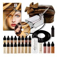 airbrush makeup professional belloccio airbrush cosmetic makeup system master set review the