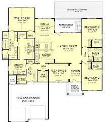 house plans with 3 master suites cottonwood house plan craftsman style house plans glass shower
