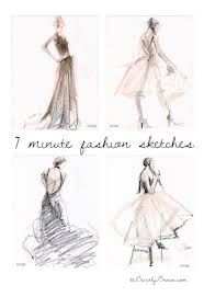 fashion sketches dresses beverly brown artist