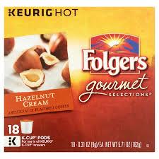 keurig folgers gourmet selections hazelnut cream coffee k