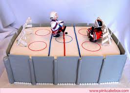 Hockey Cake Decorations Sports Cakes Pink Cake Box Custom Cakes U0026 More
