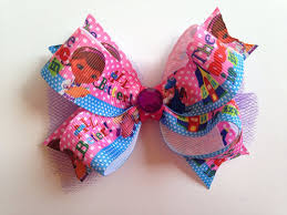 doc mcstuffins ribbon doc mcstuffins ribbon and tulle hair bow on etsy 6 00 things