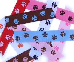 paw print ribbon 7 8 paw prints ribbon hip girl boutique llc free hairbow