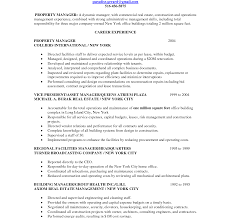 property manager resume property manager resume sle and template for assistant