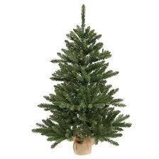 3 ft unlit anoka pine artificial tree in burlap base