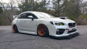 wrx subaru grey bagged subaru 2015 sti cwp stanced up