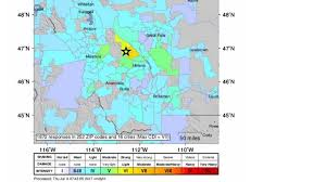 Idaho Time Zone Map Rare 5 8 Earthquake Strikes Western Montana The Area U0027s Strongest