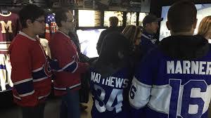 nhl centennial fan arena canadiens maple leafs fans check out centennial fan arena