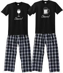 his hers pajamas couples pajamas gift footsteps clothing