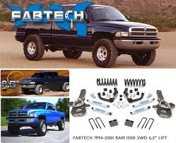 lift kit for 2000 dodge dakota fabtech 1994 1999 dodge ram 1500 6 5 lift k3023