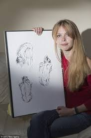 makeup artist sketchbook anorexic student realises stick thin woman in drawings is