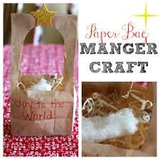 paper bag manger craft i can teach my child