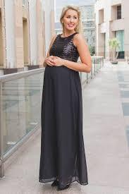 maternity evening dresses black sequin top chiffon sleeveless maternity evening gown