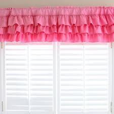 Ruffled Pink Curtains Ruffle Curtain